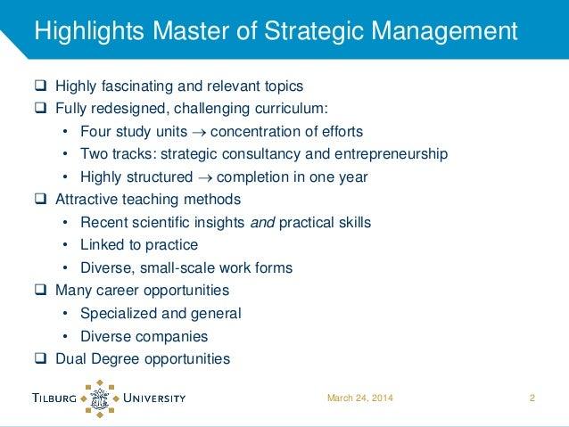 Master thesis strategic management