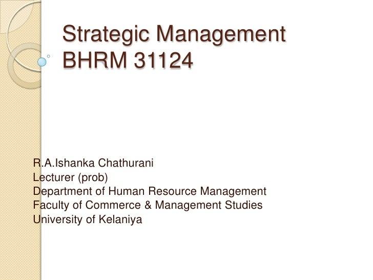 Strategic management 8