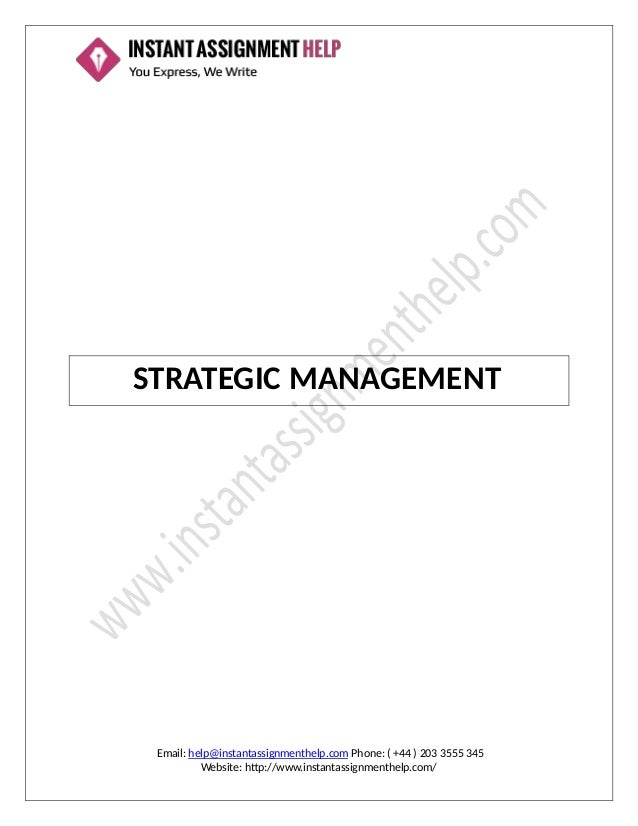 assignment for applied strategic management To be good leaders and good leaders, need management skills to be effective   managers ensure that the available resources are well organized and applied to   managers need to devise and implement strategies, make plans and budgets .