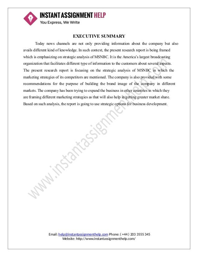 Assignment on strategic management