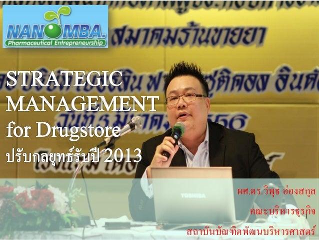 Strategic management drugstore by dr. viput