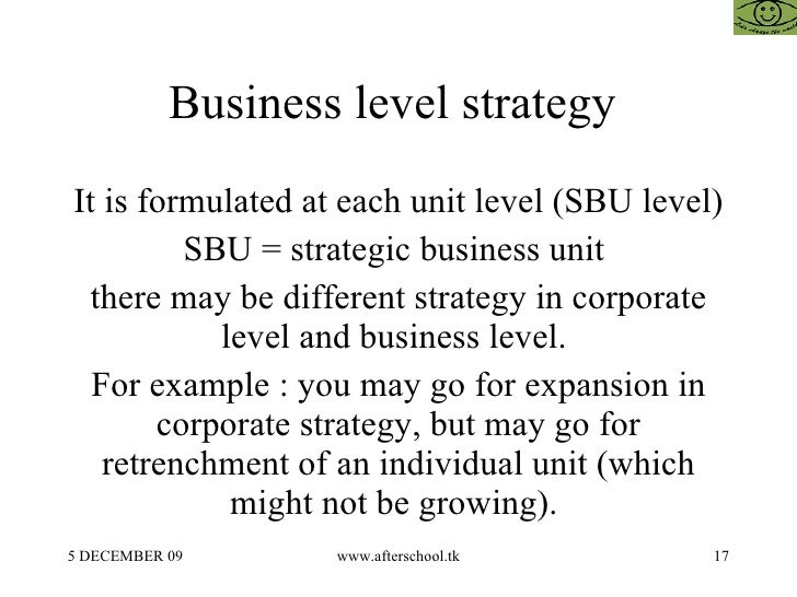 hierarchical levels of strategy