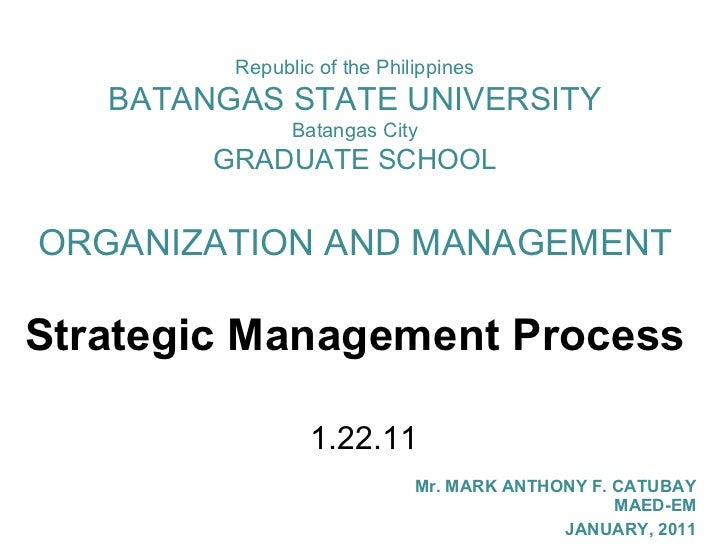 Strategic management process my report