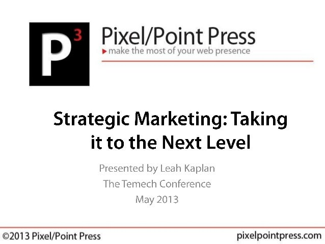 Strategic Marketing - Temech Conference 2013