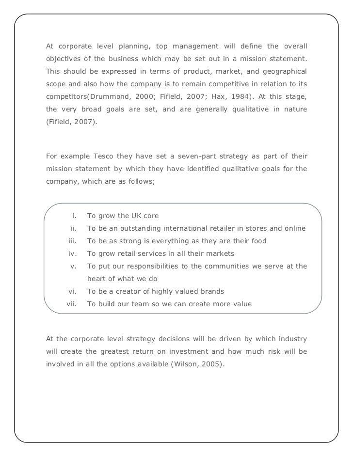 thesis on strategic marketing management