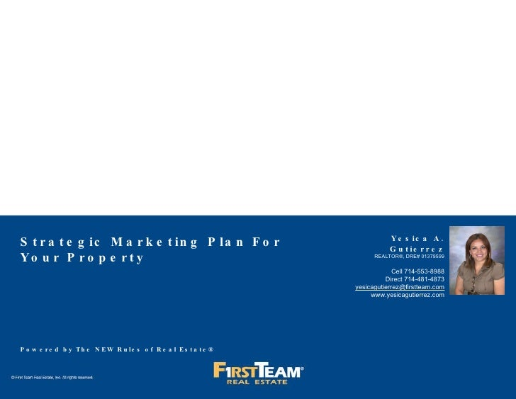 Strategic Marketing Plan To Sell Your Property