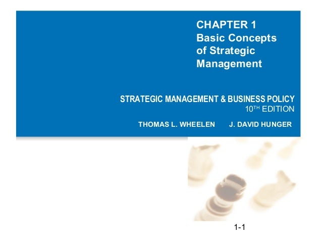 CHAPTER 1                Basic Concepts                of Strategic                ManagementSTRATEGIC MANAGEMENT & BUSINE...