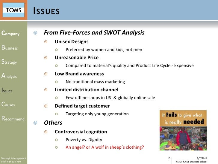 swot analysis on toms That's why i am proud so proud of this strategic plan which serves as a road map  of  this is based on a swot analysis, a business method that's been around.
