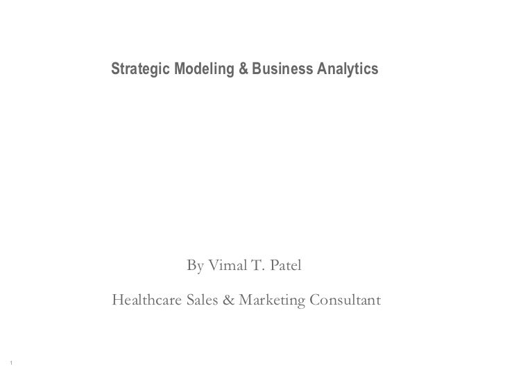 Strategic  Modeling And Business Analysis