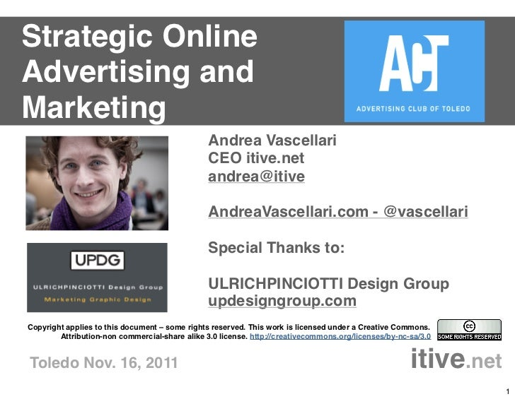 Strategic OnlineAdvertising andMarketing                                                Andrea Vascellari                 ...