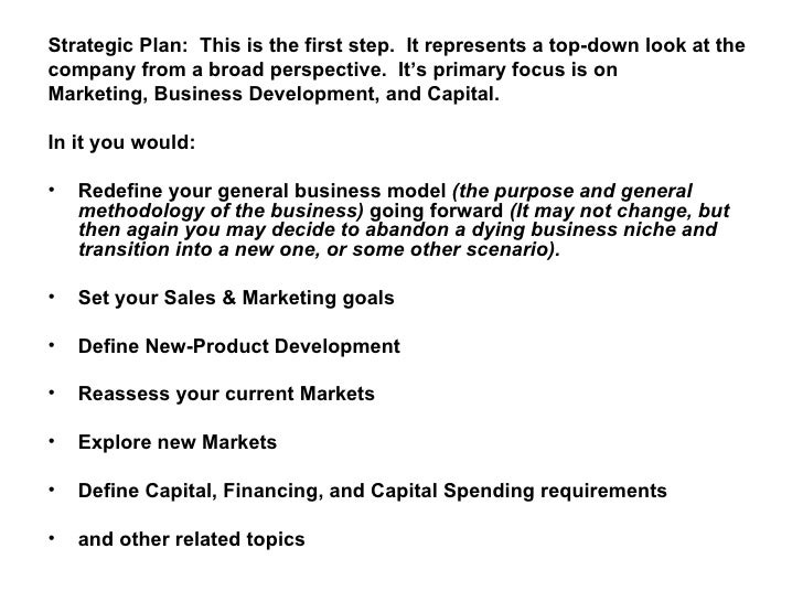 Business operational plan