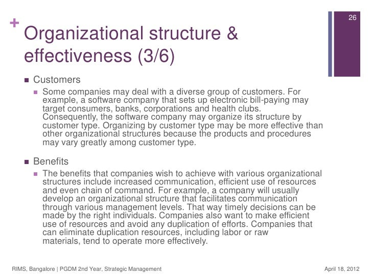 strategic management advantages in organisations Strategic human resources management as defined by the organization's strategic goals enhance an organization's competitive advantage.
