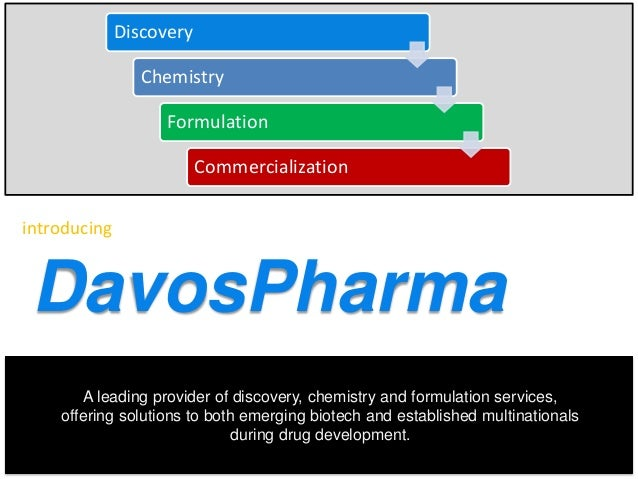 Discovery  Chemistry Formulation Commercialization introducing  DavosPharma A leading provider of discovery, chemistry and...