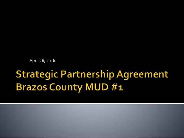 Strategic Partnership Agreement With Brazos County