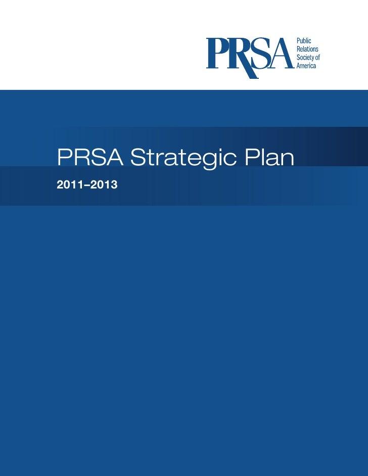 PRSA 2011-13 Strategic Plan