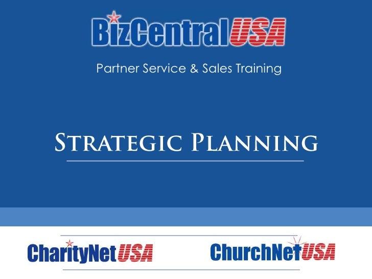 Partner Training: Strategic Plan Development