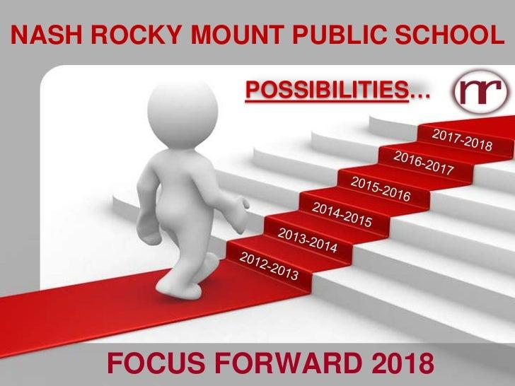 NASH ROCKY MOUNT PUBLIC SCHOOL              POSSIBILITIES…     FOCUS FORWARD 2018