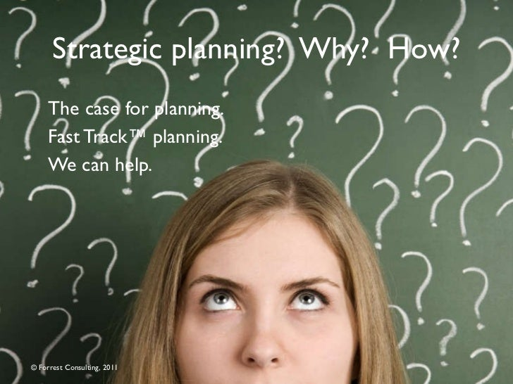 Strategic planning?  Why?  How? <ul><ul><li>The case for planning. </li></ul></ul><ul><ul><li>Fast Track™ planning. </li><...