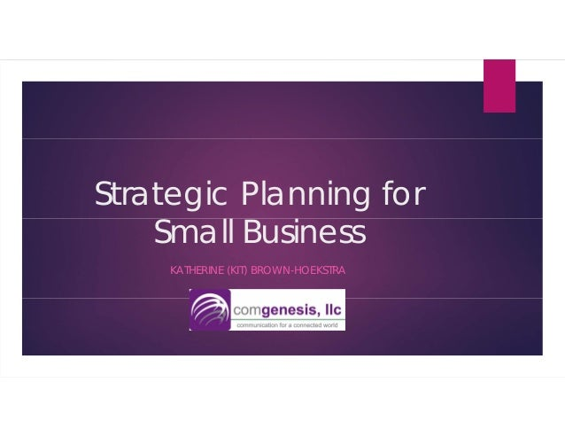 strategic planning for small business