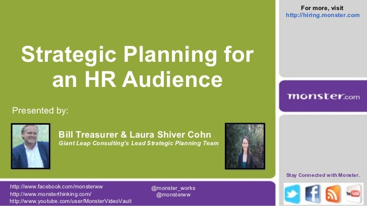 Strategic Planning for An HR Audience - Monster.com
