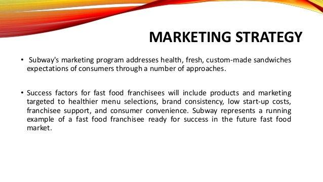 Subway restaurant business plan