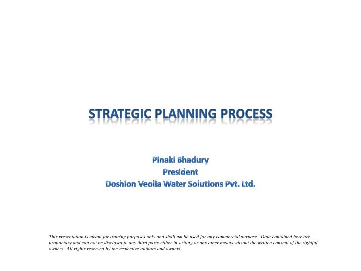Strategic planning process in companies