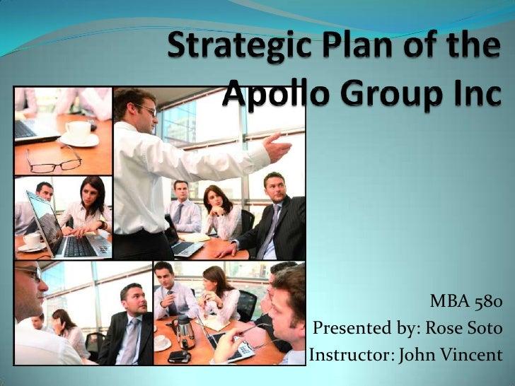 Strategic Plan Of The Apollo Group