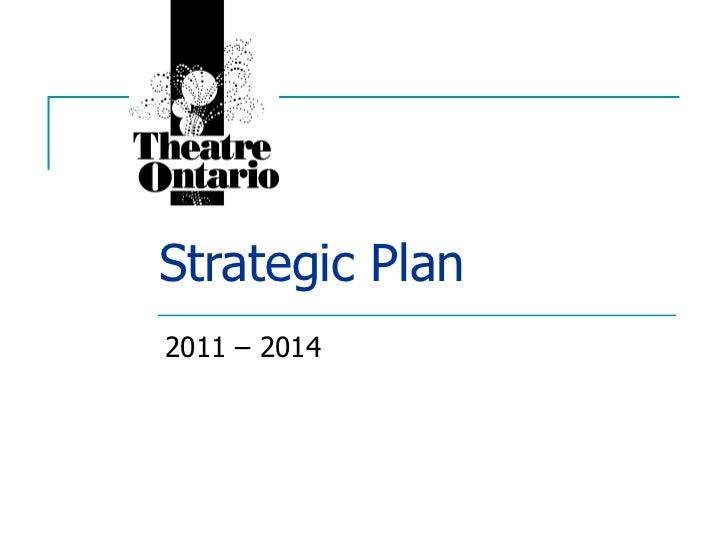 Strategic Plan 2011 – 2014