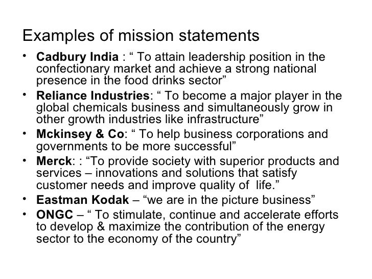 an analysis of the mission statements of three companies Strategic management mission statement who breaks the process down in three core elements: strategic analysis mission statements will assist in making some.