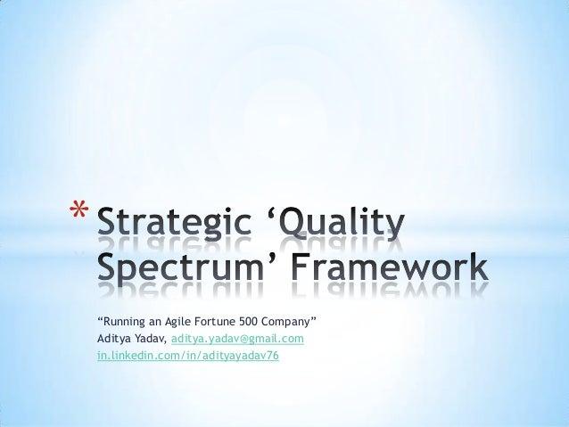 Strategic Quality-Spectrum Framework - Aditya Yadav