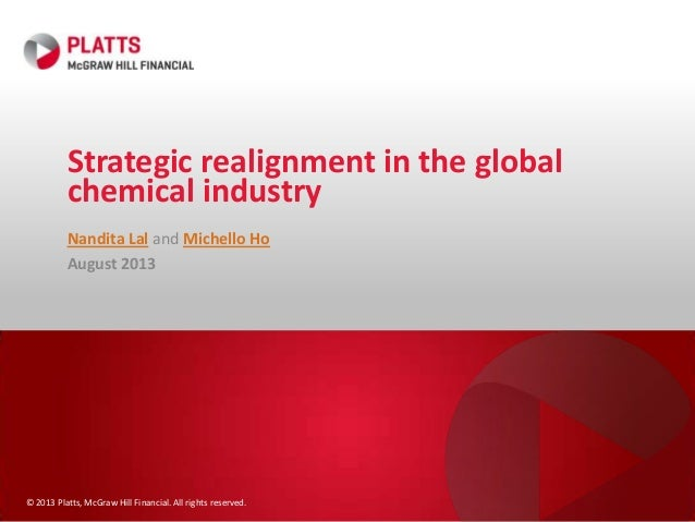 Whats causing a strategic realignment in the global chemical industry?