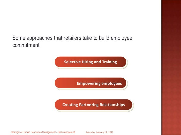 employee commitment and attitude Investigating the influence of employee attitude toward employee's attitude toward change this decreases may be due to premature commitment to the.