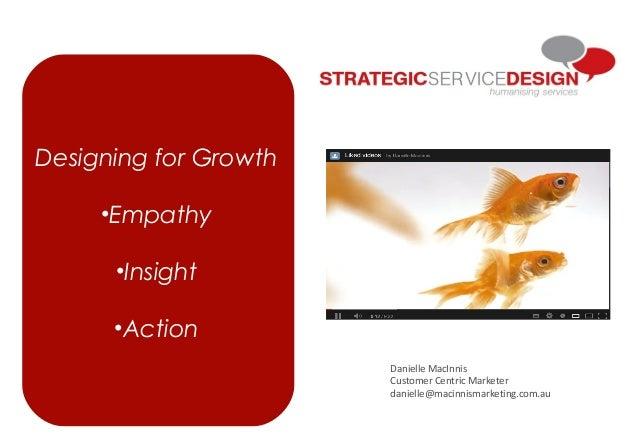 Designing for Growth•Empathy•Insight•ActionDanielle MacInnisCustomer Centric Marketerdanielle@macinnismarketing.com.au