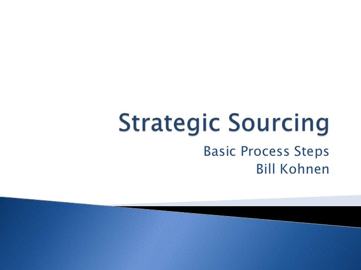 thesis strategic sourcing Strategic sourcing in the public sector maximising the benefits of real estate.