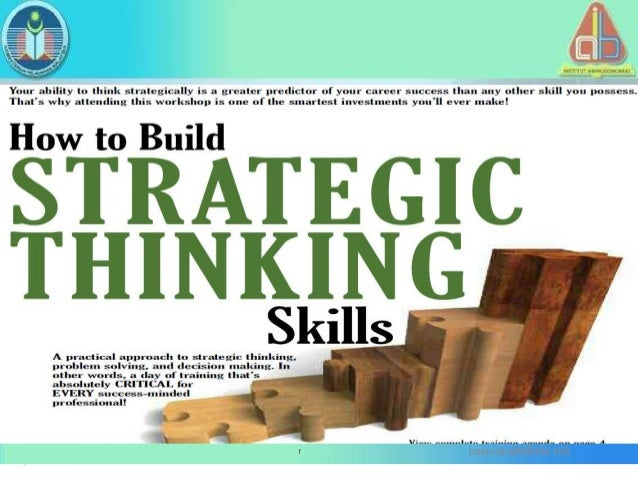 Strategic thinking skills for educational leaders