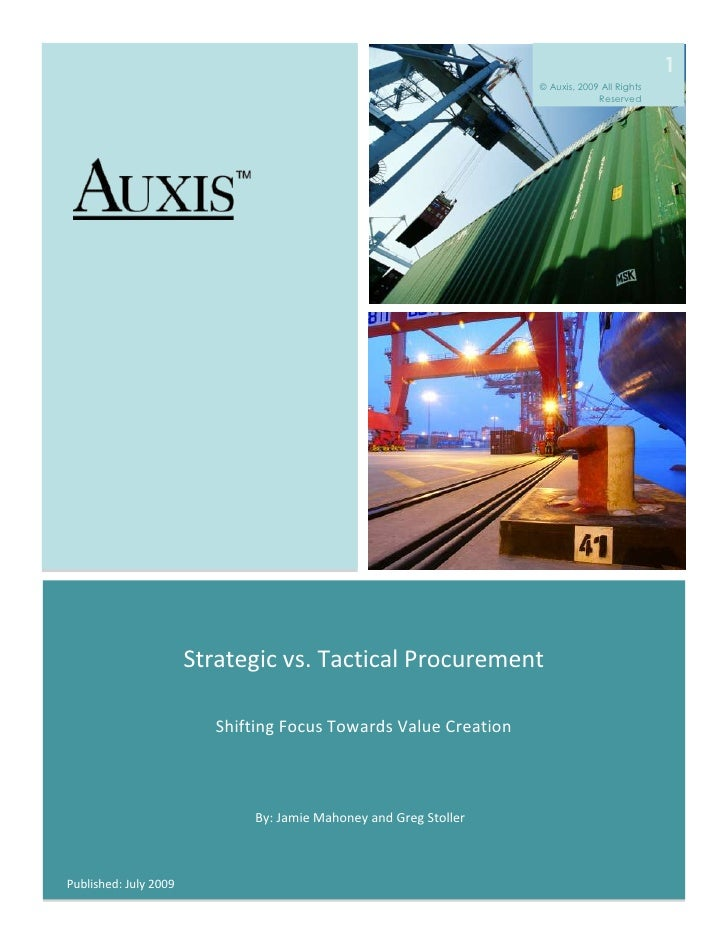 Strategic Vs Tactical Procurement   Shifting Focus Towards Value Creation