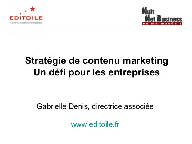 Stratégie de contenu web marketing : un défi pour les entreprises