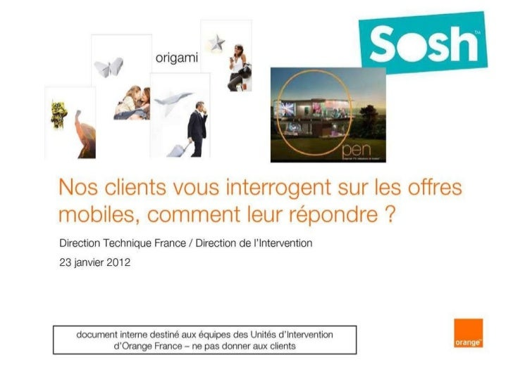 Argumentaire de SOSH by Orange face aux offres Free Mobile