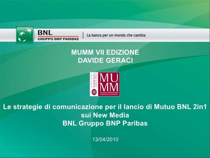 Strategie di comunicazione e new media il caso bnl