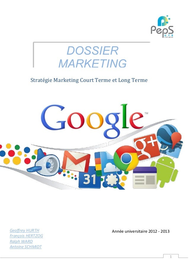 Stratégie Marketing Google
