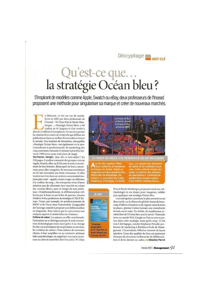 Strategie ocean bleu