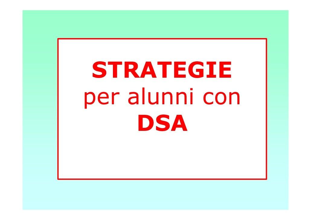 STRATEGIEper alunni con     DSA