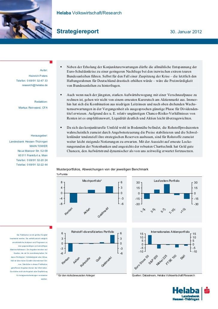 Helaba Volkswirtschaft/Research                                                   Strategiereport                         ...