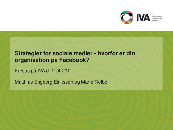 Strategier for sociale medier
