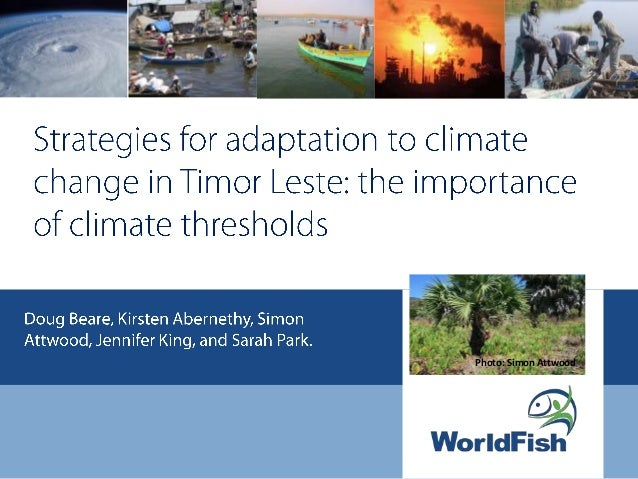 Strategies for adaptation to climate change in Timor Leste: the importance of climate thresholds