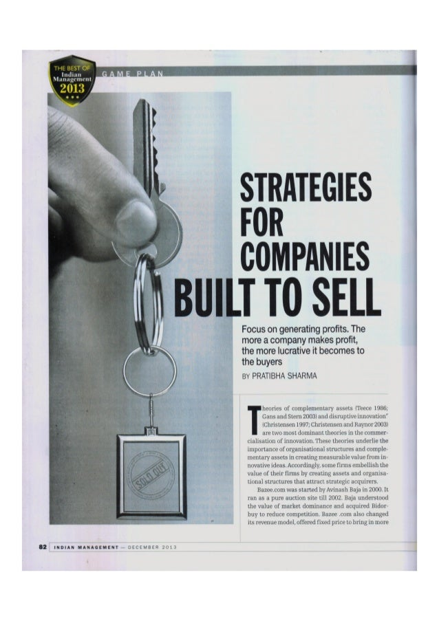 Strategies for companies to build and sell pdf
