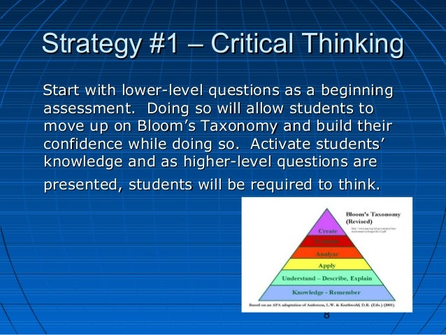 Critical Thinking Strategies For The Modern Learner