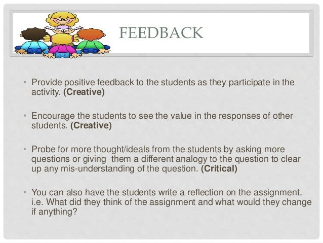Promoting critical thinking in the classroom