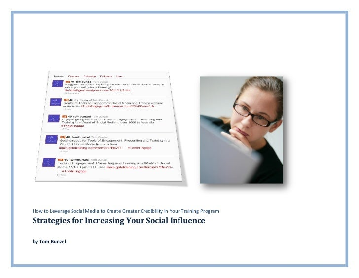 Strategies for increasing for social influence