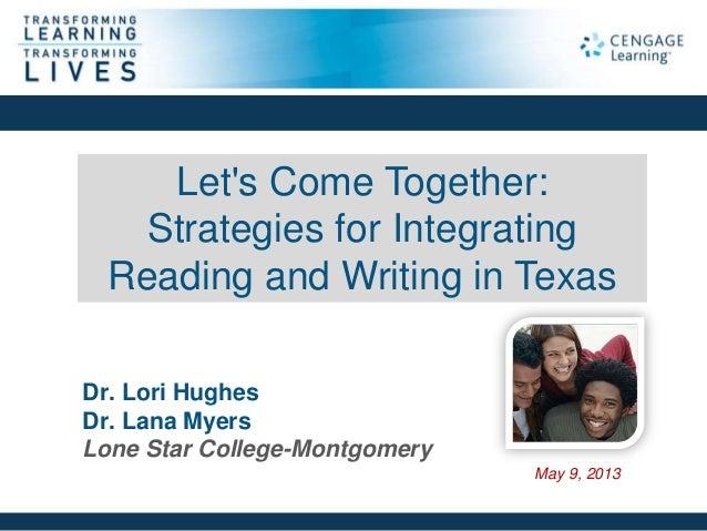 Cengage Learning, Webinar, Dev Studies, Strategies for Integrating Reading & Writing in Texas